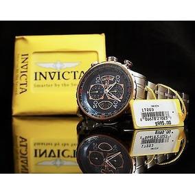 Relógio G5726 Invicta Aviator 17203 Prata Rose Azul Masc