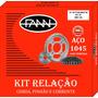 Kit Relação Honda Cg 125 Titan 2000 Fann - Alta Qualidade