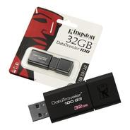 Pen Drive 32 Gb Kingston 3.0 Dt100g3 Retractil Usb Cba