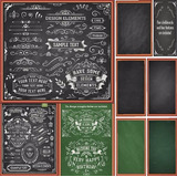 Kit Chalkboard Scrapbook Digital Lousa/giz/ + 50 Fontes