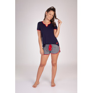Short Doll Listrado Viscolycra - Ref. 215161
