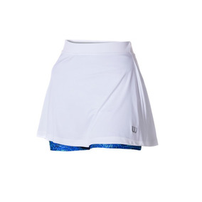 Falda Femenina Wilson - Saia Short Tour W Blanco/azul - Teni