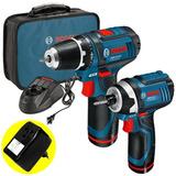 Kit Combo Furadeira E Paraf. De Impacto A Bateria 12v Bosch