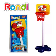 Set Basquet Juguete Infantil Rondi 97cm Con Pie Pelota Aro