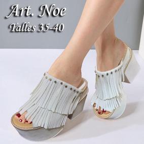 Zapatos Mujer Verano Plataforma Negros Con Flecos - Sandalias Otras ... b8e77cb2ec8