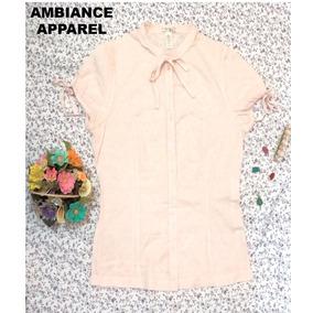 Blusa Rosa Claro Ambiance Apparel Talla S Limpia Bazarhadasa