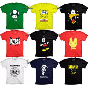Camisetas Engraçadas Super Herói Bandas Games Bicho Preguica