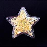 Ack-2762 Aplique De Estrella De Poliester Cristal Por 100uni