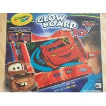 Pizarron Magico Crayola Glow Board Juguete Cars Mate Mcqueen
