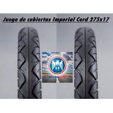 Juego D Cubiertas Imperial Cord 17 Wave Crypton Ruta 3 Motos