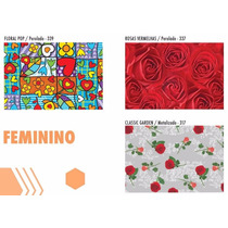Embalagem Saco Presente Metalizado 25x35 Feminino C/100un