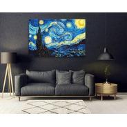 Cuadros Van Gogh Noche Estrellada Bastidor Canvas 100x70 Cm.