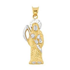 Dije De Oro 10k Santa Muerte Collar Joyeria 2718 Envio Grati