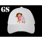 Gorras Con Logo - 12 Un. - Dora, La Exploradora - Souvenirs