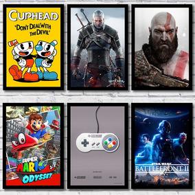 Placas Decorativas Games Decoração Para Quarto Gamer 20x28cm