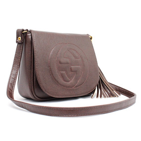 Bolsa Gucci Falsa Grande - Bolsas Marrom escuro no Mercado Livre Brasil a72fc38d475