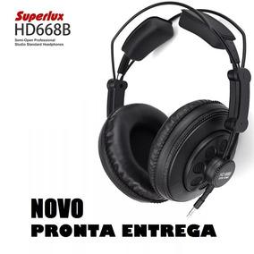 Hd-668b Fone De Ouvido Profissional Dj Semi Aberto Superlux
