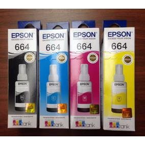 Combo Tintas Epson T664 Original L110 L200 L210 L355