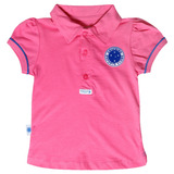 Camisa Do Cruzeiro Infantil Polo Oficial Menina