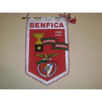 Banderin Benfica Portugal Campeon Liga 1990 Importado
