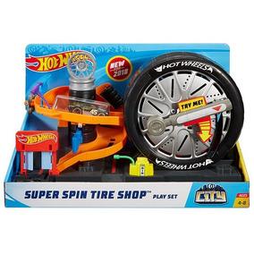 Hot Wheels Deluxe City Super Spin Tire Shop Vueltas Extremas