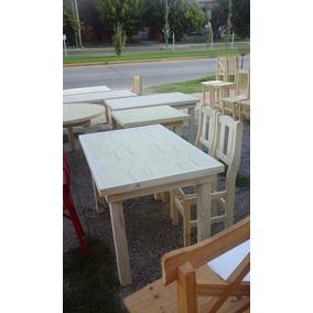 mesa de pino sillas economicas juego de cocina