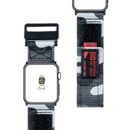 Pulseira Nylon Camuflada Surf Trilha Sport Apple Watch 44mm