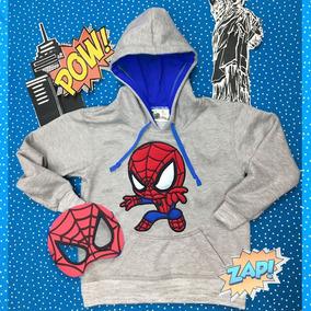 Buzo Buso Spiderman Araña Bordado Niño Pelicula Super Heroe