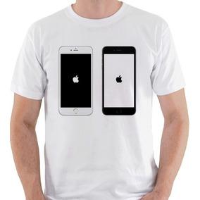 Camiseta Iphone Apple Smartphone Maçã Geek Nerd Camisa Blusa