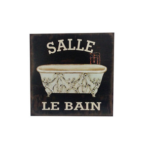 Cartel Cuadro Vintage Retro Modelo Le Bain Salle - Desillas