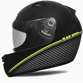 Capacete New Spark - Black Edition Preto/verde