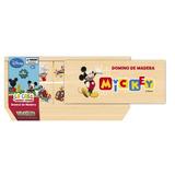 Juego De Mesa Disney Mickey Dominó Didáctico De Madera