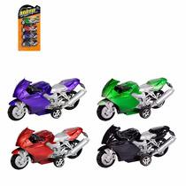 4 Motos Coloridas De Brinquedo P Crianças Presente Infantil