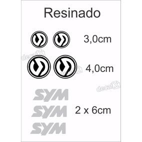 Emblema Adesivo Resinado Carenagem Sym Moto Dafra Sitycom