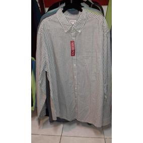 Camisa En Talla 2xlt, 3xl O 3xlt Merona Manga Larga