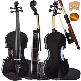 Violino 4/4 Tradicional Preto Perola Sverve Ronsani Estojo