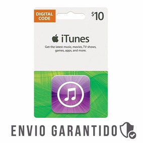 Itunes Gift Card 10$ Dolares Usa Cartao Iphone Appstore