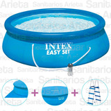 Pileta Easy Set Combo Intex 457 X 122 Cm Filtro + Accesorios
