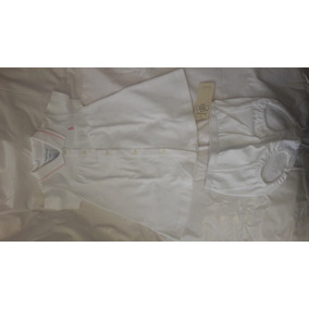 Vestido Ralph Lauren Blanco Talla 6 A 9 Meses