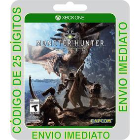 Monster Hunter World Xbox One Código De 25 Dígitos
