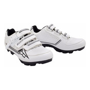 Zapatillas Ciclismo Mountain Bike Mtb Bici Axo Blanca