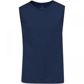 Camiseta Regata Oxer Básica Mescla - Masculina - Cor Azul Es cc6932b40e0