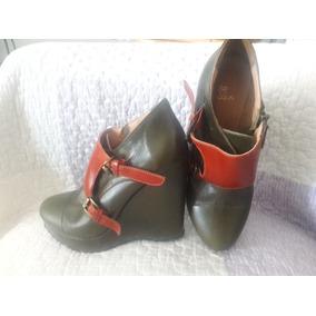 Botinetas Zapato Mujer Blaque Cuero