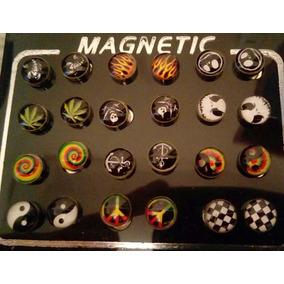 Brinco De Imã Magnético, Reggae, Roots, Rock, 2 Brincos 8mm