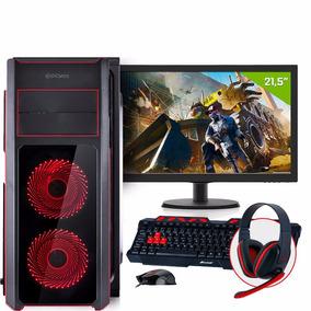 Pc Gamer Fx6300 8gb 1tb Gtx 1050 Ti 4gb +monitor + Kit Gamer