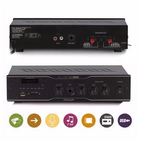 Receiver Amplificador Som Ambiente Frahm Slim 1000 Usb Sd Fm