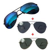 Kit Oculos De Sol Redondo Masculino Feminino Original