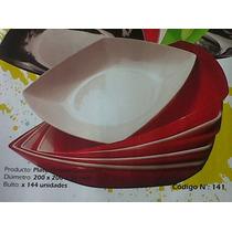 48 Platos Plasticos Hondo No Descartable 20 X 3,6 Cm.