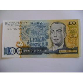 Rc905 - Brasil Cédula C186 100 Cruzados Fe Flor De Estampa