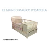 Cama Cuna, Recamara, Dormitorio Madera 100% Pino